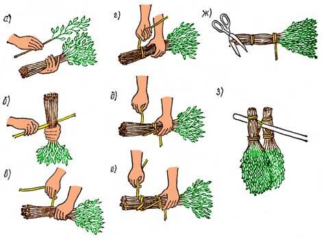 Как правильно вязать веники березовые для бани